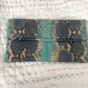 Real snakeskin vintage clutch